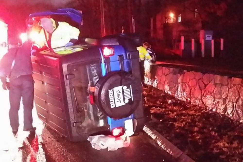 Vince Wilfork, defensive tackle for the New England Patriots, helped a woman trapped in a Jeep Wrangler early Monday morning in Foxborough, Mass.