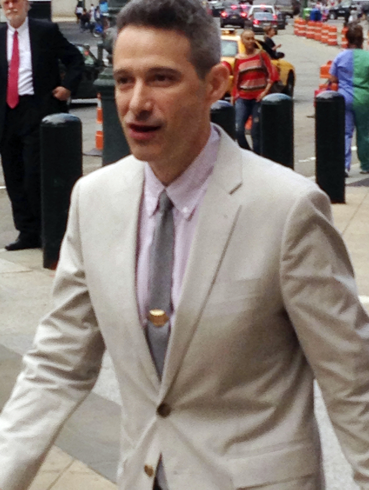 Adam Horovitz of the Beastie Boys leaves court last year during a copyright trial against Monster Energy Co.