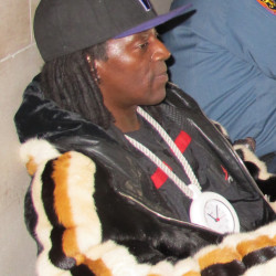 Rapper Flavor Flav doesn't like the circumstances, but does like the attention.
