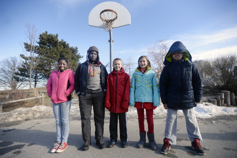 "These fifth-graders at Portland's East End Community School – from left, Lina Wakati, 11, William Lobor, 10, Tyler Hethcoat, 11, Shai Knight, 11, and Said Mohamud, 11 – weighed in Wednesday on the cheating controversy involving the use of under-inflated footballs by the New England Patriots. ""Cheaters never win,"" Lobor said, ""so what's the point in cheating if you're not a winner on the inside?"""