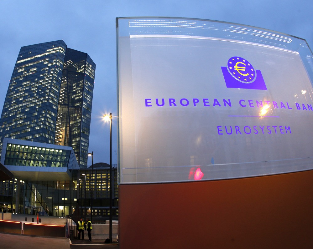 Beginning in March, the European Central Bank, headquartered in Frankfurt, will buy 60 billion euros' worth of government and corporate bonds each month in an effort to stimulate Europe's ailing economy. Stocks in Europe and the U.S. rallied after the announcement.