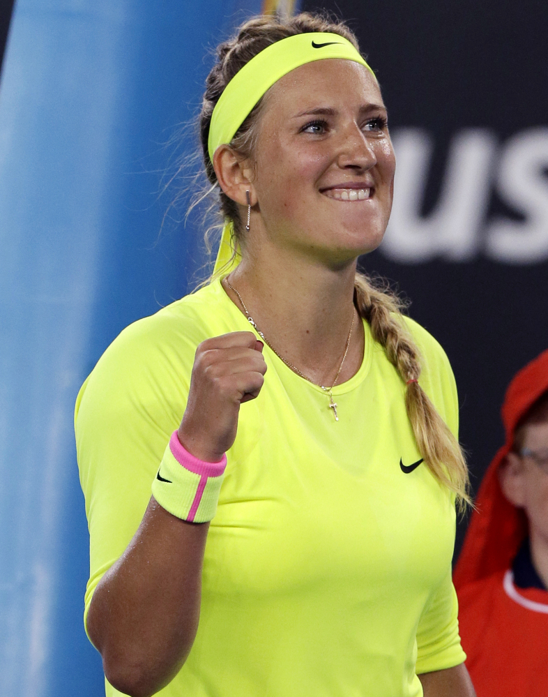 Victoria Azarenka has won the Australian Open twice but because she suffered through an injury-plagued 2014, wasn't ranked this year. But she's still good, as Caroline Wozniacki, a former world No. 1, discovered in a straight-set setback.