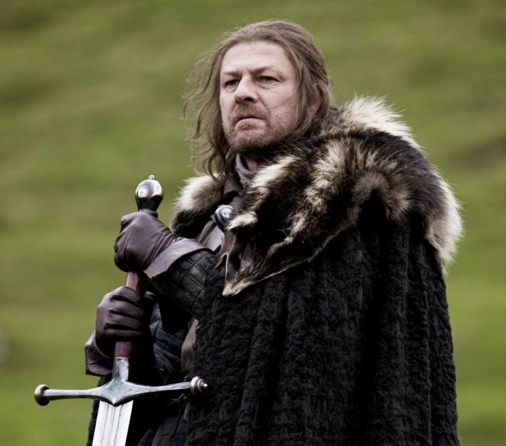"Leading man Sean Bean's character, Ned Stark, was killed off in the first season of ""Game of Thrones."""