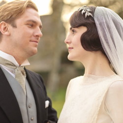 "Dan Stevens as Matthew Crawley with Michelle Dockery as Lady Mary Crawley in ""Downton Abbey."" Matthew's death in a car crash outraged some viewers."