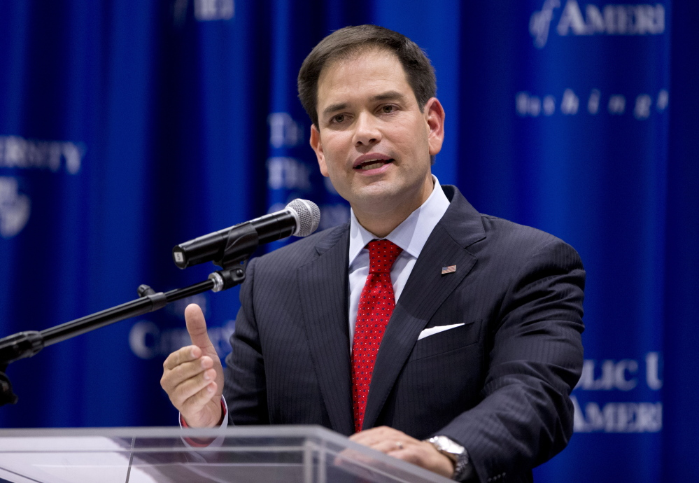 Sen. Marco Rubio, R-Fla., isn't saying for sure yet if he's running for the White House.