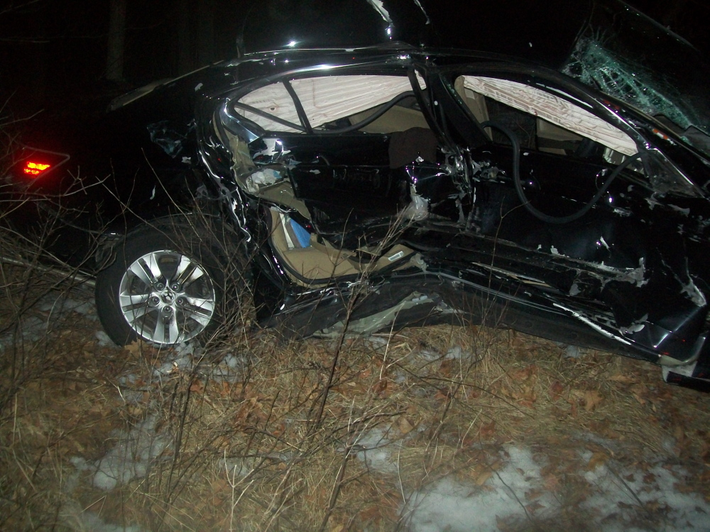 A 2009 Honda Accord was wrecked in Fridays accident in Standish.