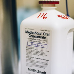 Liquid methadone at the CAP Quality Care clinic, which offers methadone treatment to patients as a part of their substance recovery process in Westbrook.