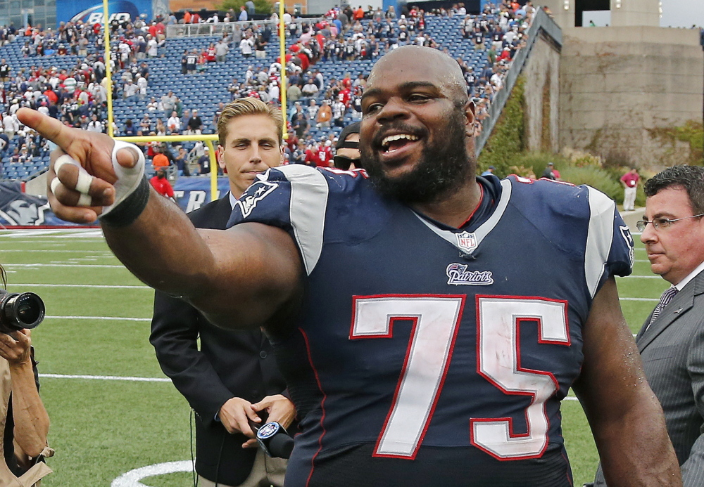 Defensive tackle Vince Wilfork, who left New England to play for Houston in 2014, returned to sign a contract Wednesday that allows him to retire as a Patriot.