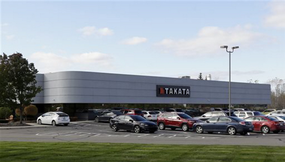 The Takata building, an automotive parts supplier in Auburn Hills, Mich., is the North American subsidiary of the Japanese based Takata Corp., which supplies seat belts and airbags for the automotive industry.