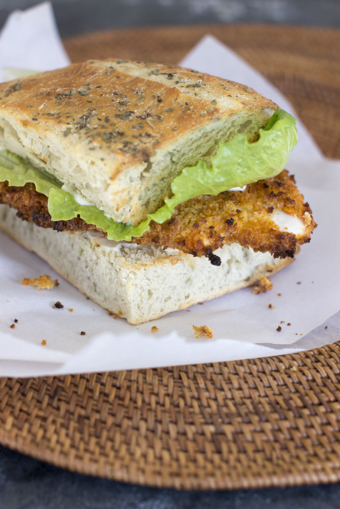 The spicy, crunchy cutlets also make a great sandwich