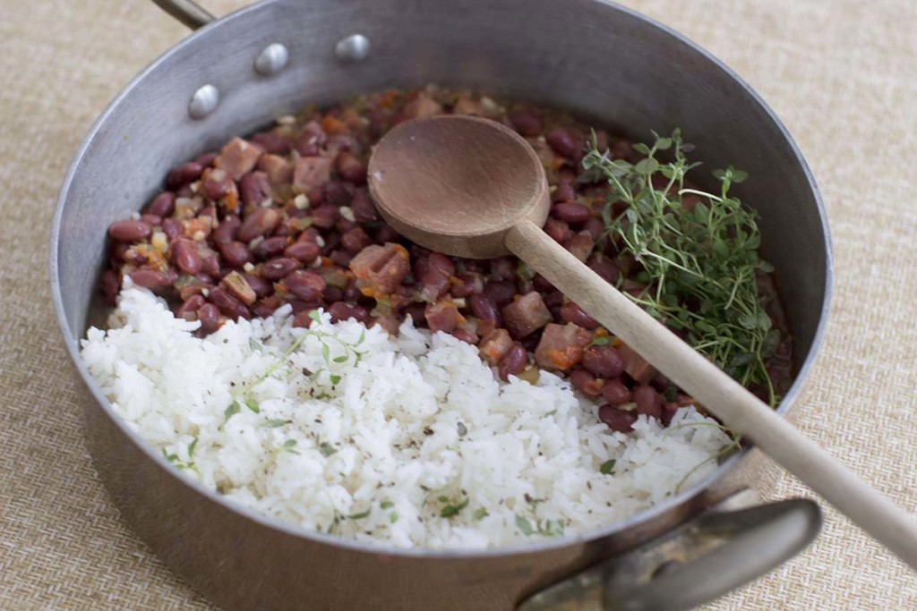 Just a 1/2 cup serving of red beans and rice has 8 grams each of protein and fiber – all for about 100 calories, and close to no fat. The Associated Press