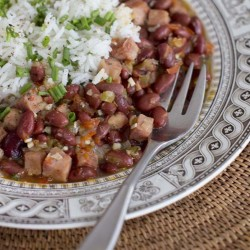 Red beans and rice in Concord, N.H. The Associated Press
