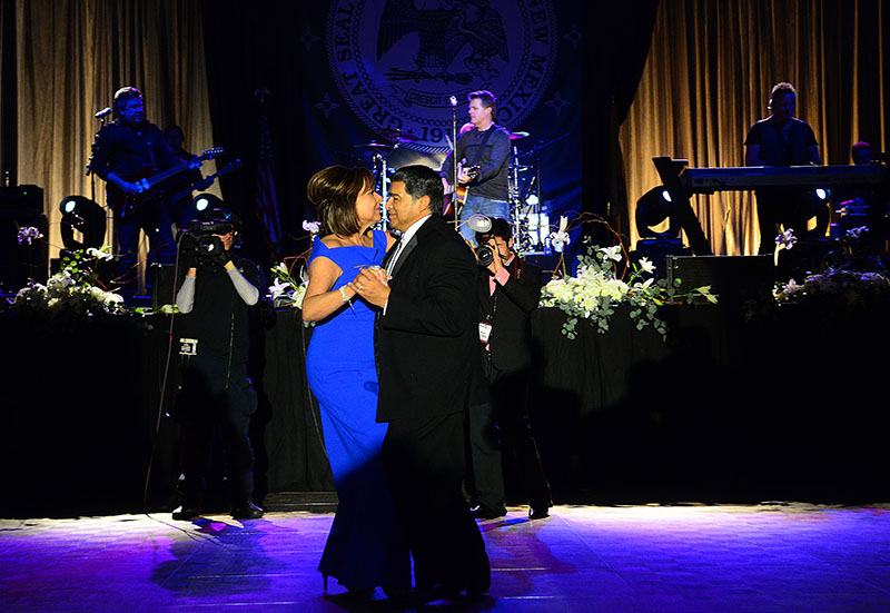New Mexico Gov. Susana Martinez dances with first gentleman Chuck Franco at her inaugural ball.