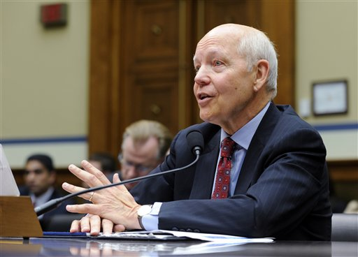 IRS Commissioner John Koskinen testifies on Capitol Hill in this July 23, 2014, photo. The budget for the budget year that ends in September 2015 is $1.2 billion less than the IRS received in 2010. Those cuts could actually cost the government money, Koskinen says. The Associated Press