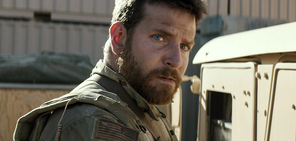 "Bradley Cooper appears in a scene from ""American Sniper.""  The film has been nominated for an Oscar for best movie, and Cooper has been nominated for best actor. The Associated Press / Warner Bros."