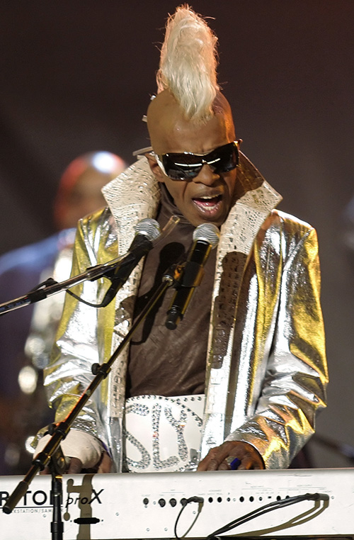 Sly Stone performs at the Grammy Awards in Los Angeles in this FILE - In this Feb. 8, 2006, photo. Jurors Tuesday found that Stone's ex-manager Gerald Goldstein, attorney Glenn Stone and the company Even Street Productions owed him royalties. The Associated Press