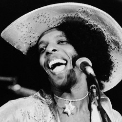 "Rock singer Sylvester ""Sly"" Stone of the music group, Sly and the Family Stone, in an April 1972 photo. The Associated Press"