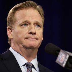 NFL Commissioner Roger Goodell participates in a news conference for NFL Super Bowl XLIX Friday in Phoenix. The Associated Press
