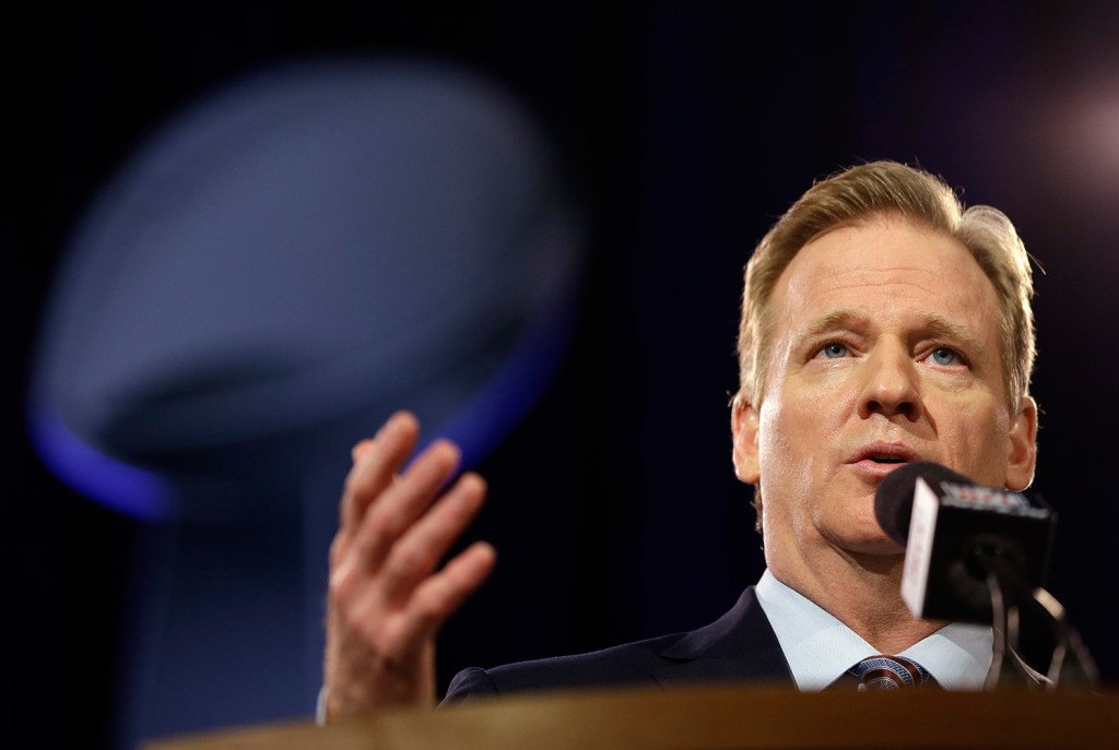"""NFL Commissioner Roger Goodell said at a news conference Friday in Phoenix, """"Whether a competitive advantage was actually gained or not is secondary in my mind to whether that rule was violated,"""" in reference to the investigation into how balls used by the New England Patriots came to be deflated."""