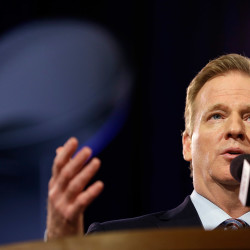 "NFL Commissioner Roger Goodell said at a news conference Friday in Phoenix, ""Whether a competitive advantage was actually gained or not is secondary in my mind to whether that rule was violated,"" in reference to the investigation into how balls used by the New England Patriots came to be deflated."