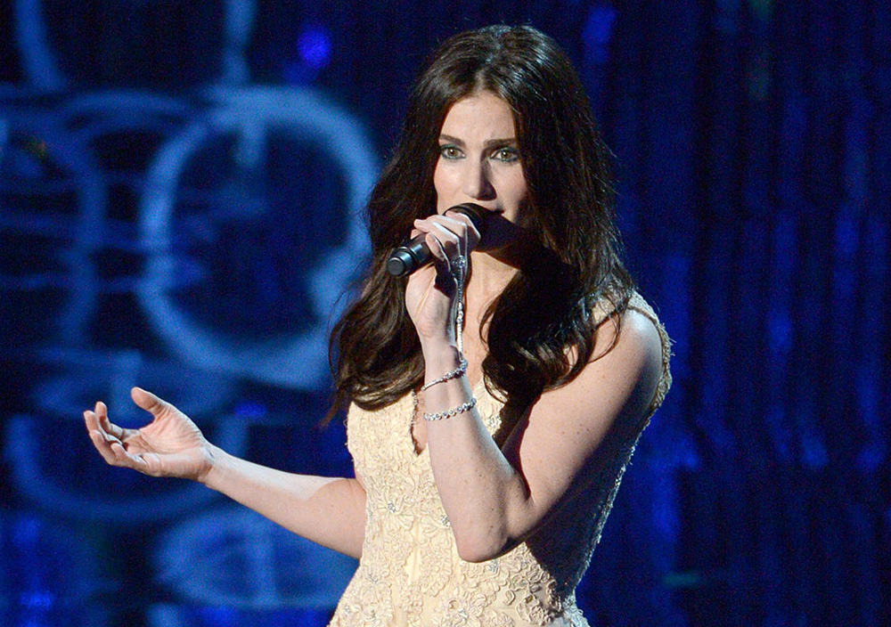 "Idina Menzel performs ""Let It Go,"" the hit song from ""Frozen,"" during the Oscars last March. The Associated Press"