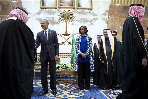 Covering one's head is not required for foreigners, and like Michelle Obama, some Western women choose to forgo the headscarf while in Saudi Arabia.