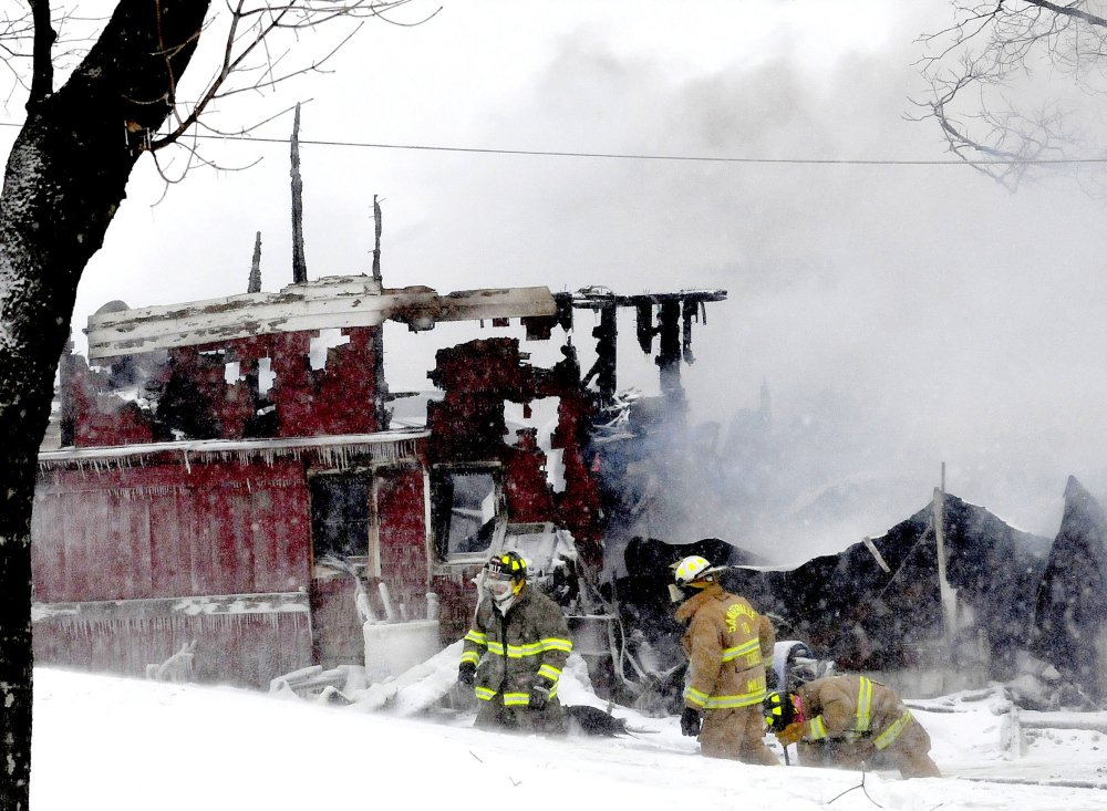 Twenty-two cows, including 17 calves, died in a barn fire at the Sherburne and Sons dairy farm in Dexter on a bitterly cold Monday.