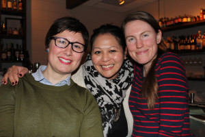 Tracie Reed, Jenna Vendil and Taryn Hallweaver, all of Portland, at the first Symphony and Spirits event.