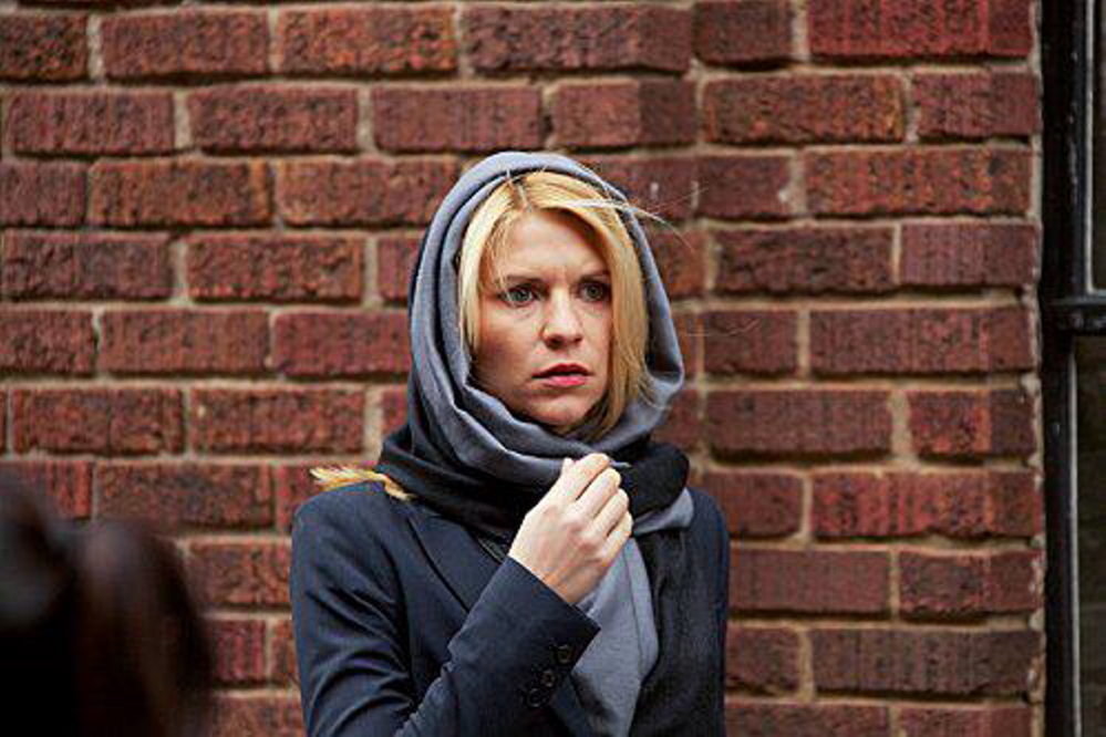 "Claire Danes as the bipolar spy Carrie Mathison in ""Homeland"""