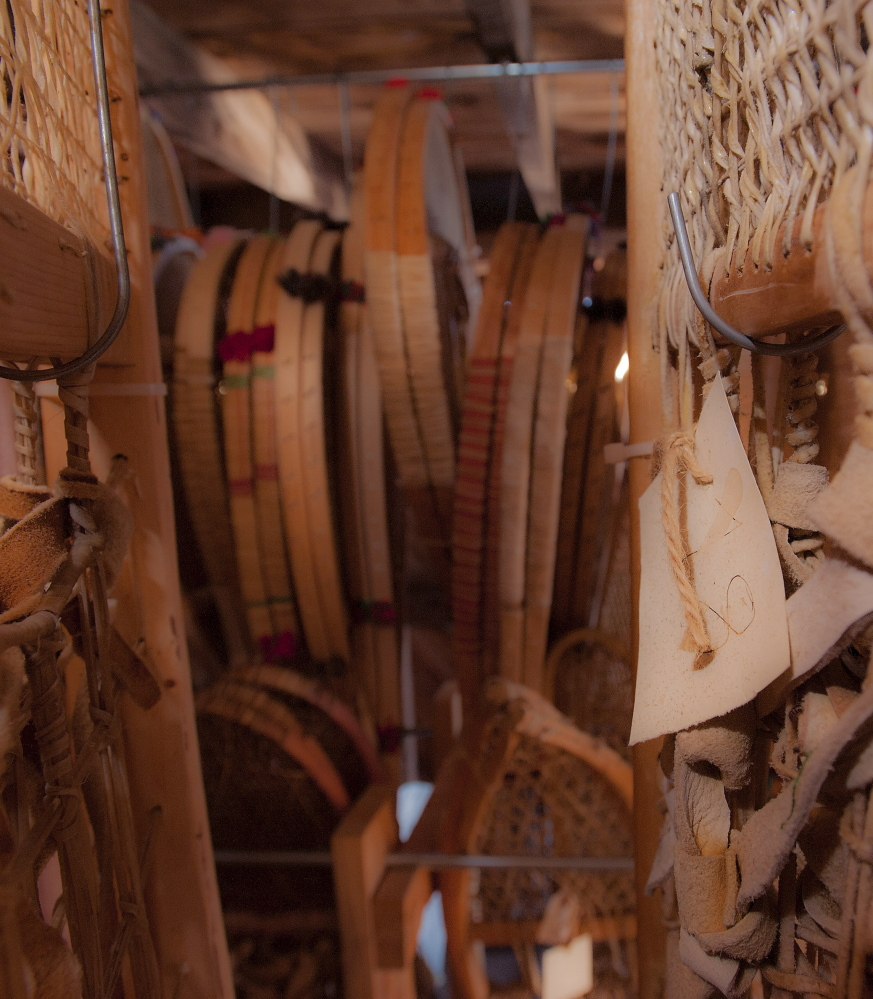 Expeditions to the remote northern locales have allowed Bill Mackowski to document at his Milford man-cave the variety of snowshoes made by native peoples from Maine to Canada's Yukon Territory. His devotion to the cultural importance of his craft is why the Maine Arts Commission gave him a grant two yearsago to teach an apprentice with the Penobscot Nation.