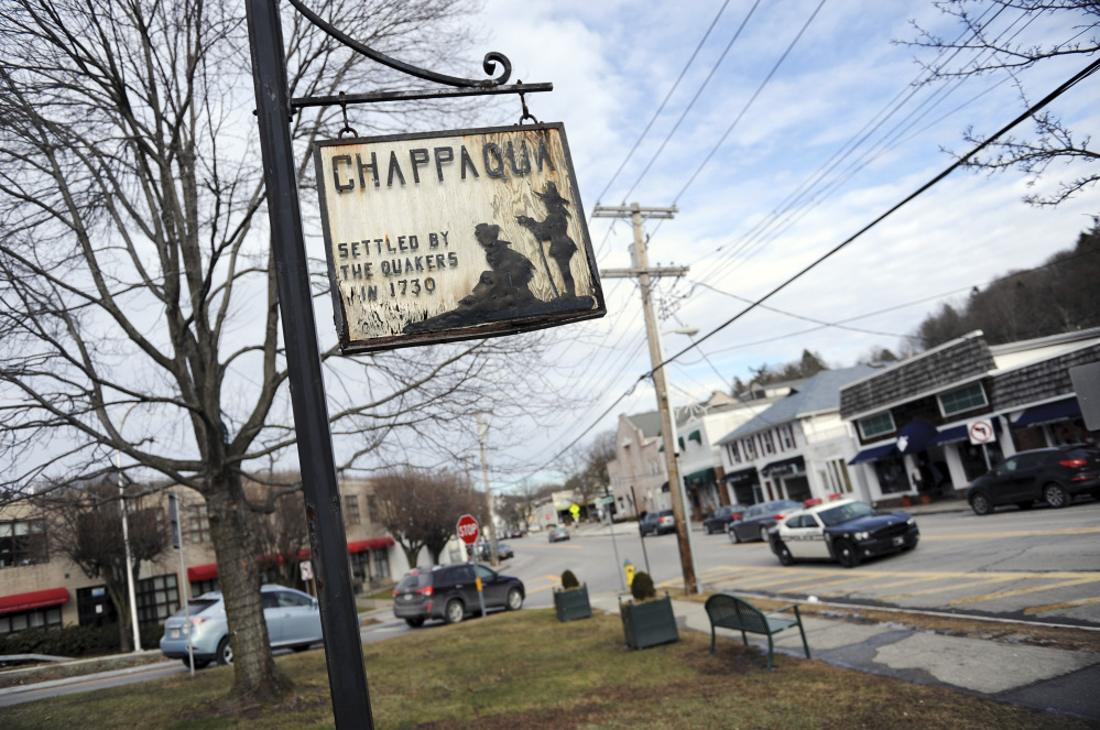Downtown Chappaqua, N.Y., is home to Bill and Hillary Clinton, who bought a home there in 1999. Tyler Sizemore/Greenwich Time