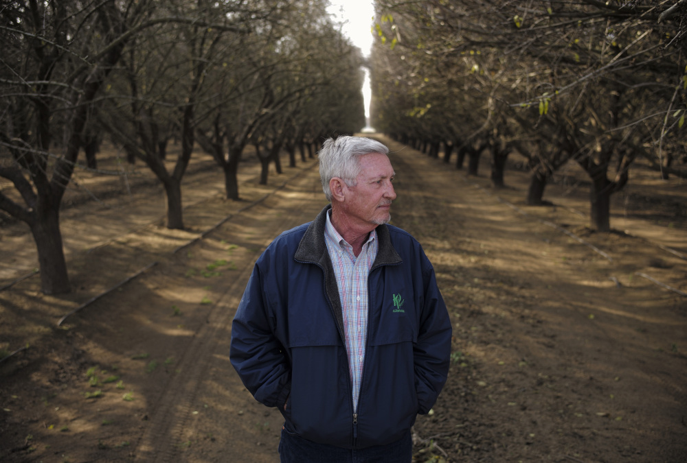Mike Hopkins of Bakersfield, Calif., had to uproot his cherry trees in 2013, blaming damage from oil-field wastewater.