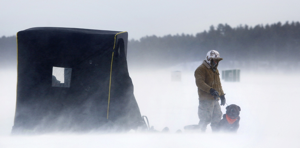 To maine ice fishermen derbies are only about the fish for Maine ice fishing derbies