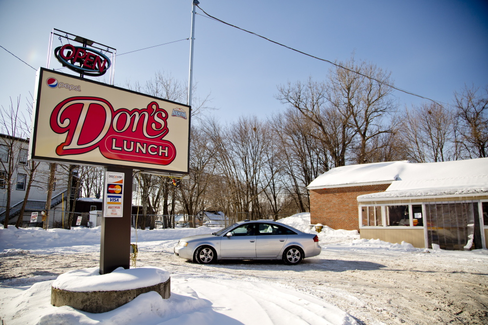 A would-be diner arrives to find Don's Lunch Van on Main Street in Westbrook closed Friday. Don and Yvonne Richards opened the business in 1976.
