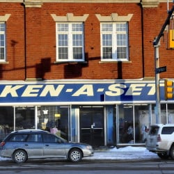 The Ken-A-Set Thrift store in Waterville, seen Wednesday afternoon, will close Feb. 22.