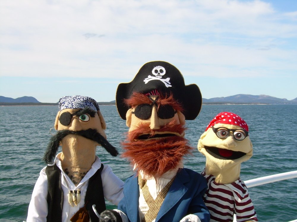 "Frogtown Mountain Puppeteers will present ""Everybody Loves Pirates,"" a free puppet show for children, at 1 p.m. Monday at The Strand Theatre in Rockland."