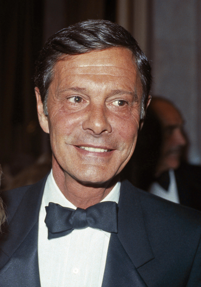 "Louis Jourdan, shown in 1984, is dead at 93. He starred with Leslie Caron and Maurice Chevalier in ""Gigi."""