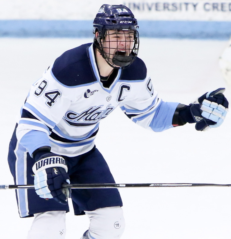 Devin Shore, who may turn pro with the Dallas Stars after the season, came to Orono because of Alfond Arena and the fans, and the thrill of playing there hasn't left.