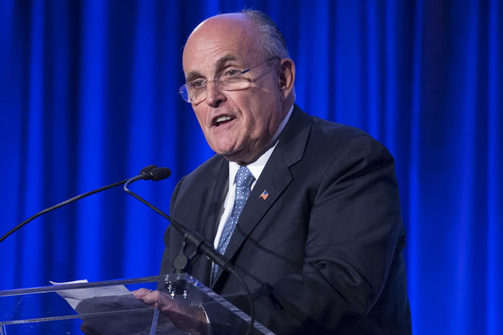Former New York City Mayor Rudy Giuliani questioned President Barack Obama's love of country, and urged the potential field of Republican presidential candidates to rebuke his comments.
