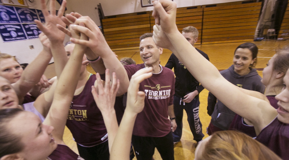 "When the Thornton Academy girls' basketball team breaks huddles in practice or games, there's a shout of ""Family!"" It's not an idle shout. It recognizes Hayley Desjardins, a 12-year-old with a rare blood disorder, and Coach Eric Marston's wife, Nancy, who is battling breast cancer."