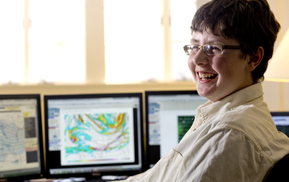 """North Yarmouth Academy freshman Jack Sillin writes a weather blog that """"garnered a lot of respect"""" at the Weather Channel, said the channel's President Dave Clark."""