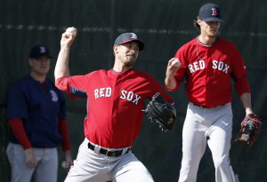 Rick Porcello, left, and Clay Buchholz will be counted on for big seasons as the Boston Red Sox attempt to prove a team can win big without the presence of an established No. 1 starter.