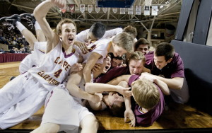Down by five points in the final minute. Not one basket in the fourth period to that point. But when the Class B state title was truly on the line Friday night, Cape Elizabeth came through. And when Ethan Murphy hit a winning layup at the buzzer, there was no stopping the celebration. And why not? A golden moment before raising the Gold Ball.