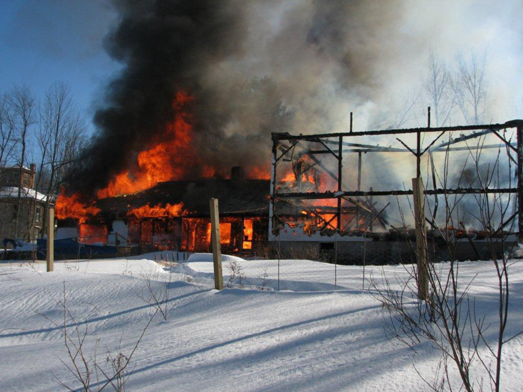 Tuesday's fire in Bridgton spread quickly, reducing the barn and home to rubble by the time firefighters could extinguish the blaze.
