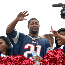 New England Patriots player Malcolm Butler waves to fans during a parade in his honor Saturday in downtown Vicksburg, Miss.  The Associated Press