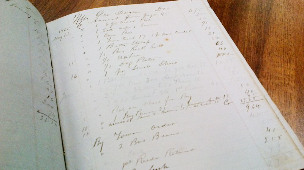 Here's a look inside the  Mattawamkeag ledger. The Maine State Archives has scanned a copy of the ledger, which is available for viewing at the archives facility in the cultural building alongside the Maine State Museum and Library in Augusta. Courtesy Maine Secretary of State's Office