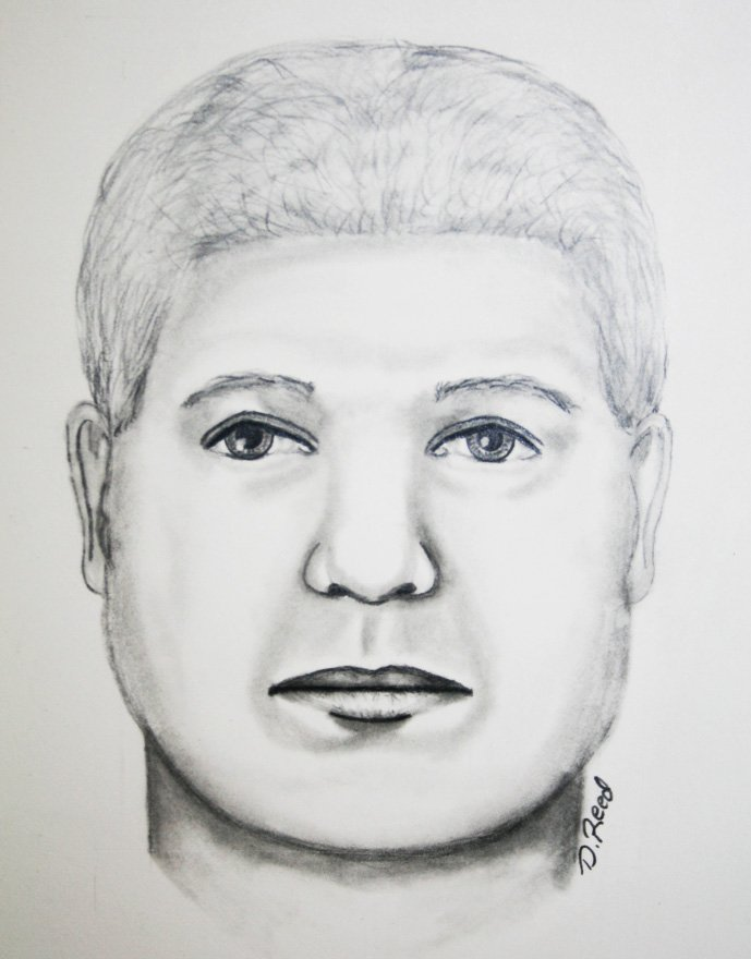 Saco police released this artist's composite sketch of the man suspected of trying to rob Holly's Gas .