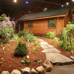 Setting up for Portland Flower Show