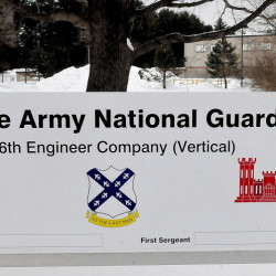 The Maine Army National Guard 136th Engineer Company in Skowhegan.
