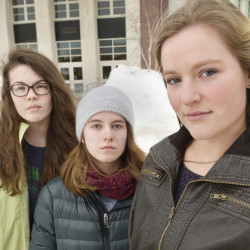 Lily SanGiovanni, right, Gaby Ferrell, center, and Morrigan Turner see the response to their story as largely positive.